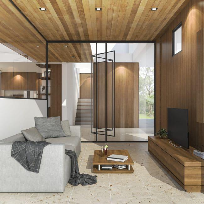 Glazen wand woonkamer — InteriorInsider.nl