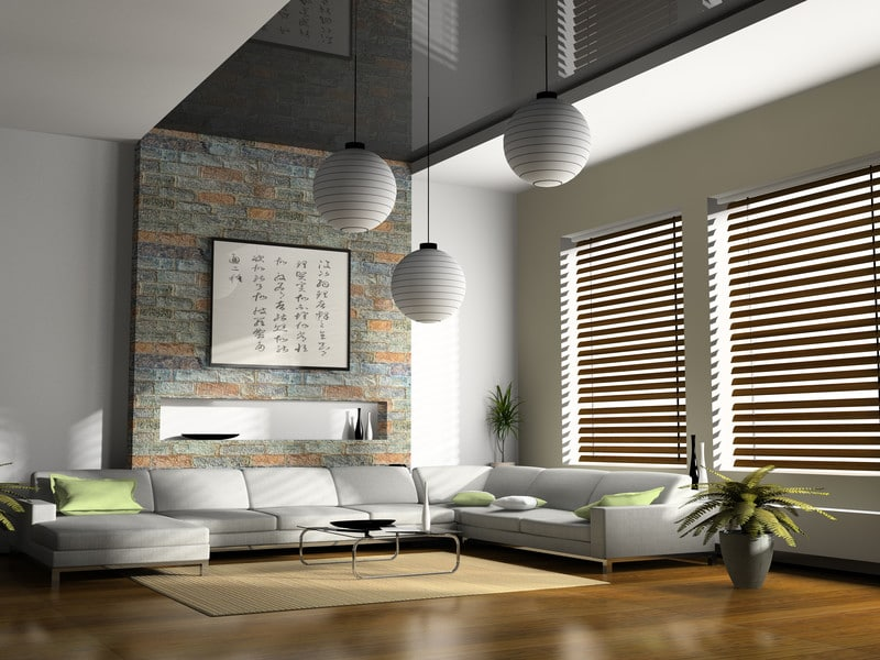 houten jaloezieën woonkamer