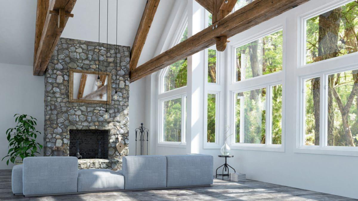 Interieur landelijk modern for Se puede poner una chimenea en un piso