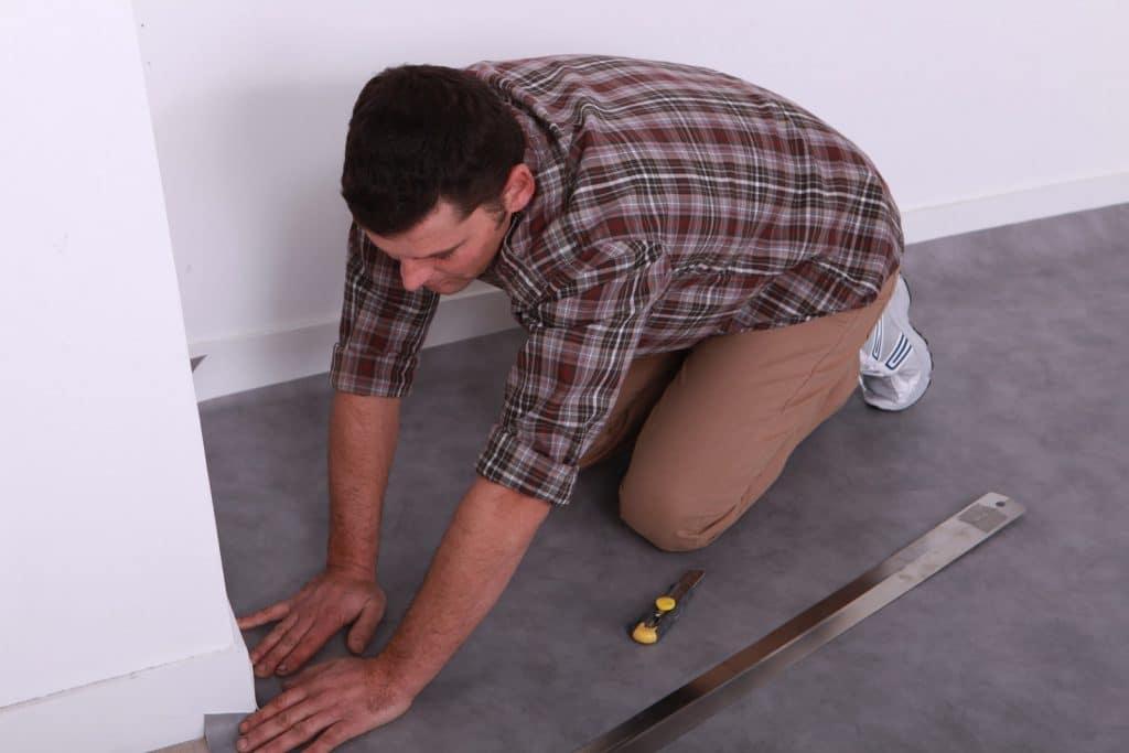 Linoleum Vloer Badkamer : Een betonlook linoleum vloer als hippe vloerbedekking: marmoleum