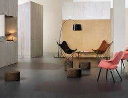 Een betonlook linoleum vloer als hippe vloerbedekking