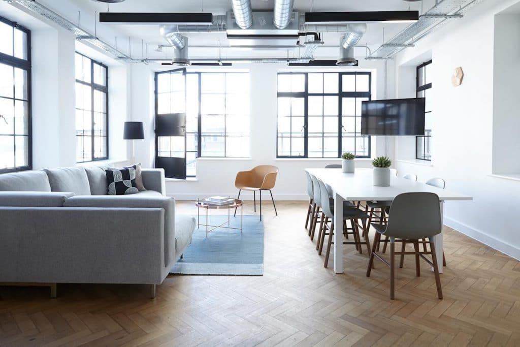 moderne woonkamer industrieel