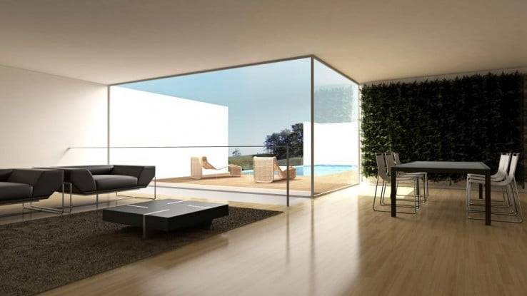 plantwalls binnen woonkamer