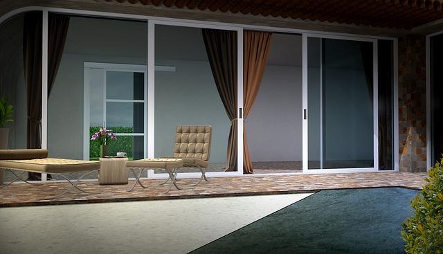sfeervolle tuin moderne lounge