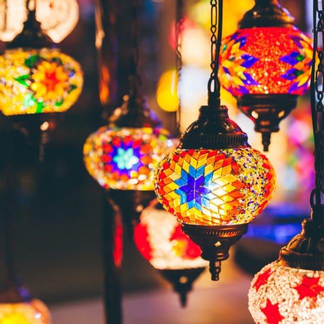 Turkse mozaïek lamp