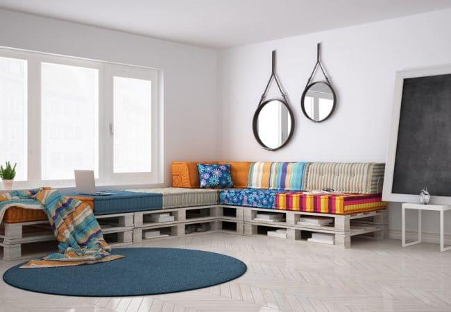 Een loungebank maken met pallets